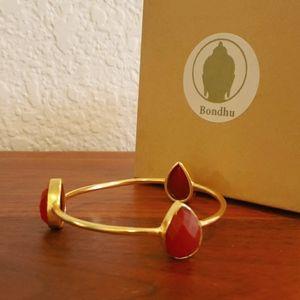🧡 Carnelian Gold Bracelet